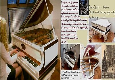 White Grand Piano Concert Pianists Interview Where Cool Looms Coulomb Laye  .