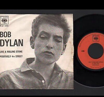 "Bob Dylan - Italy 7"" Vinyl - Like A Rolling Stone - 1965 - Cbs 1896 - Rare !!!"
