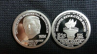 2017 norfed  trump $25 1oz.999 Fine Silver Coin UNCIRCULATED INAUGURATION COIN