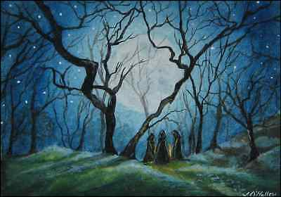 """ACEO, Print, """"The Meeting Place"""" Druid Pagan"""