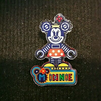 Japan Tokyo Disneyland TDL TDR Robot Gears Minnie Mouse Pin
