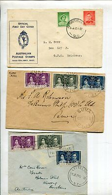 COMMONWEALTH 1937 CORONATION FDC COVER Lot 8 Items