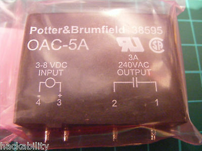 Potter & Brumfield OAC-5A Solid State Relay - DATASHEET On Listing