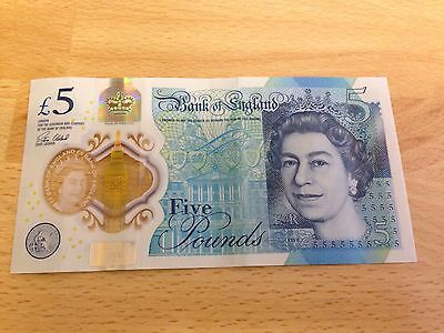 AA01 new 5 pound note
