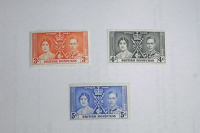 George Vi 1937 Coronation British Honduras Un Mounted Mint