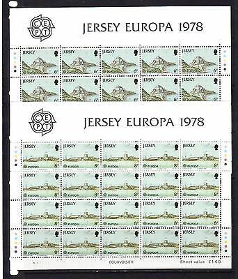 a119 - JERSEY - SG187-189 MNH 1978 EUROPA - CASTLES FROM PAINTINGS - SHEETLETS