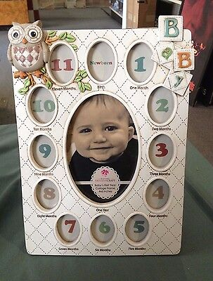 Fashioncraft Baby's First Year Collage Picture Frame 13 Photos 4x6 Inches