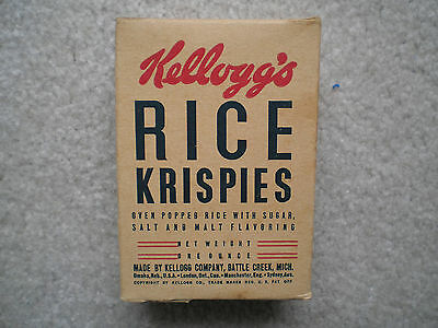 Kellogg's Rice Krispies Sample Size Cereal Box 1942