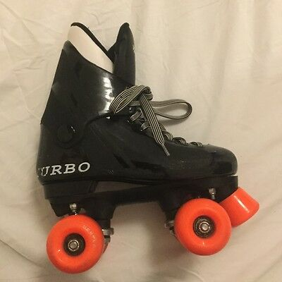 roller skates ventro pro eu33 uk1 turbo black orange wheels