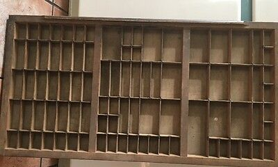 PRINTERS TYPE CASE Or DRAWER Large Case With Brass Corners