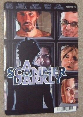 A SCANNER DARKLY promo art card KEANU REEVES - this is NOT a movie