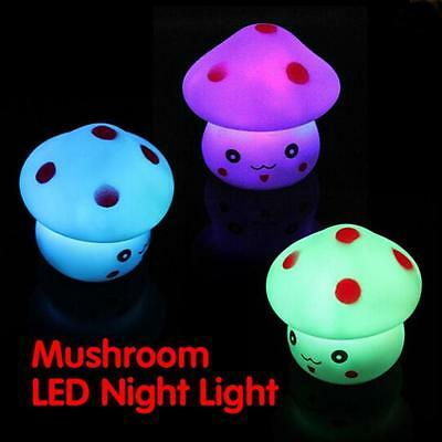 Mushroom Shaped LED Lamp Night Light Nightlight Lamp Flashing Toy Novelty Night