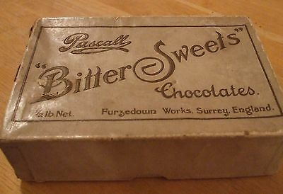 """PASCALL """"Bitter Sweets"""" Chocolate Box 1900s approx"""