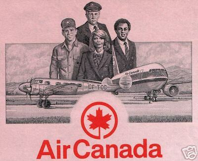 XXX-RARE UNCANC MINT MuLtiCoLoR AIR CANADA STOCK w 4 PLANES Our Exclusiv CV $300