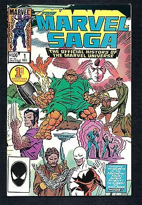 The Marvel Saga  the Official History of the Marvel Universe   #1 (1985)    NM