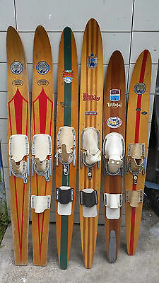 Vintage water skis - Fred Williams, Ron Marks, Surfers Paradise Gardens