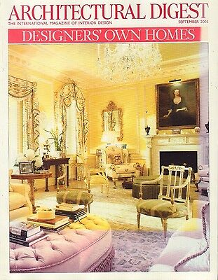 Architectural Digest September 2005 Designers' Own Homes 021417DBE3