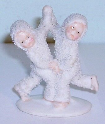 vintage bisque Snow Baby snow babies dancing cake decoration