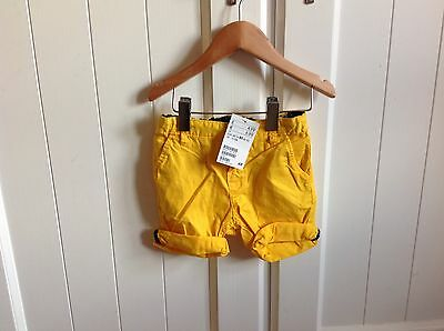 Boys New shorts yellow size 9 - 12 months H and M new