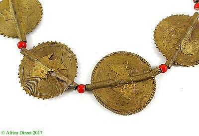Baule Brass Beads Coin Shaped African Huge