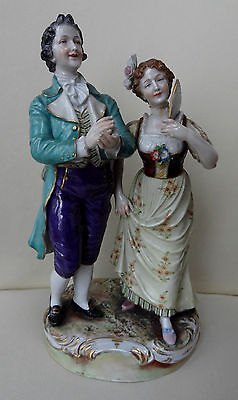 "High Quality 9"" Volkstedt German Porcelain Figure Group"