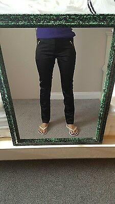 Atmosphere Women Ladies Shinny Look Party Formal Skinny Black Trousers Size 10 S