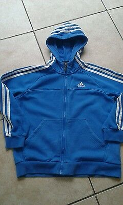 Boys adidas zip hoodie jacket top age 9/10 years