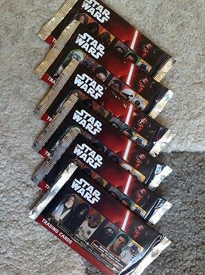 Journey To Star Wars: The Force Awakens Topps Trading Card Packs X6