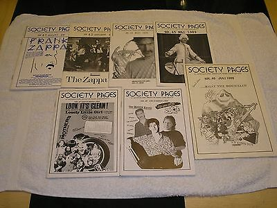 Frank Zappa- 'society Pages' Rare Norwegian Editions.