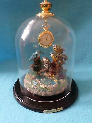 """Bradford Edition """"treasures Of The Morning"""" Authentic Domed Clock (With Cert)"""