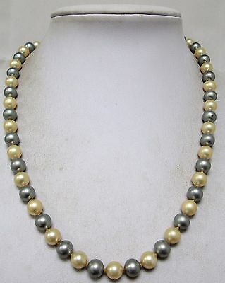 Very good quality vintage hand knotted pearl necklace (sterling silver clasp)