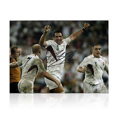 Martin Johnson Signed England Rugby Photo: The Final Whistle Collectables Sport