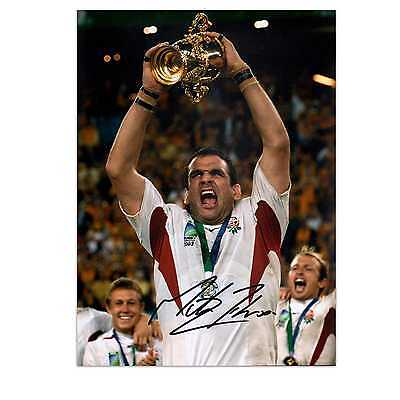 Martin Johnson Signed England Rugby Photo: World Cup Winner Collectables Sport
