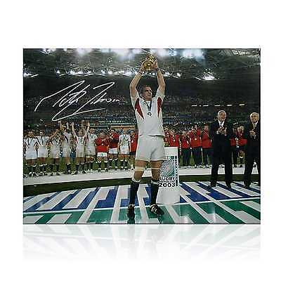 Martin Johnson Signed England Rugby Photo: On The Podium Collectables Sport