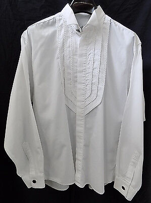 Vintage NOGARET PARIS Men's Dress/Tuxedo Shirt Size Medium 3 Placket Embroidery
