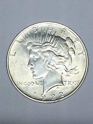 1922 P Silver Peace One Dollar Coin XF