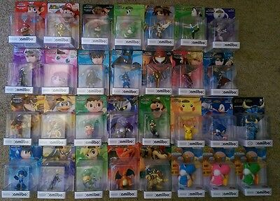 amiibo collection, gold Mario, shovel knight, Wii fit trainer