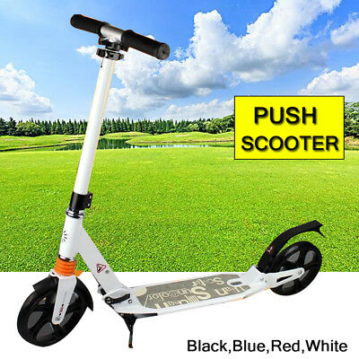 Adult City Suspension Push Kick Scooter Folding Large 200mm Wheels Birthday Gift
