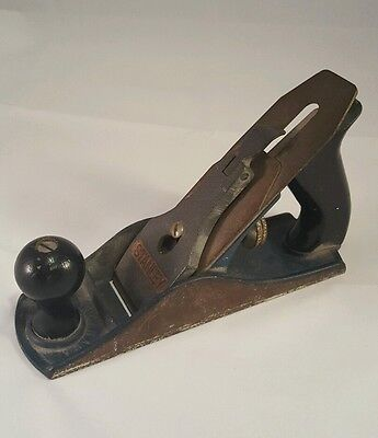 Antique STANLEY Hand Plane Blue Body Made in Canada for Restoration As Found