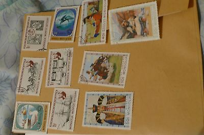 10x large Mongolia/ Mongolian postage stamps (used) philately mail