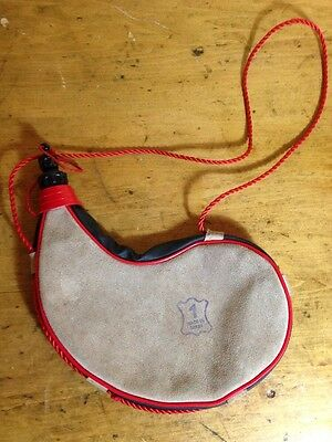 Canteen Made In Spain Bota Suede Water Bag Bottle Vintage Container Camping Gear