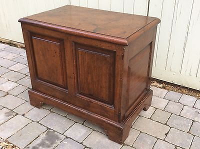 Antique Small Oak Blanket Box, Storage Chest, Coffer, Coffee Table Quality Item