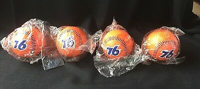 FOUR 4 Orange Union 76 Baseballs RARE & NEW! Buy all 4 or separately for charity
