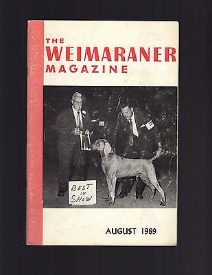 The Weimaraner Magazine, August 1969, Dog History
