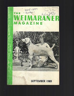 The Weimaraner Magazine, September 1969, Dog History