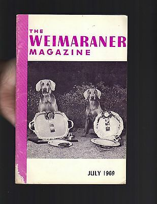The Weimaraner Magazine, July 1969, Dog History