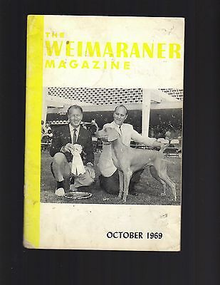The Weimaraner Magazine, October 1969, Dog History