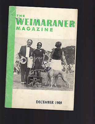 The Weimaraner Magazine, December 1969, Dog History