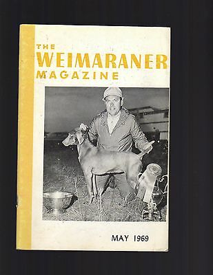 The Weimaraner Magazine, May 1969, Dog History