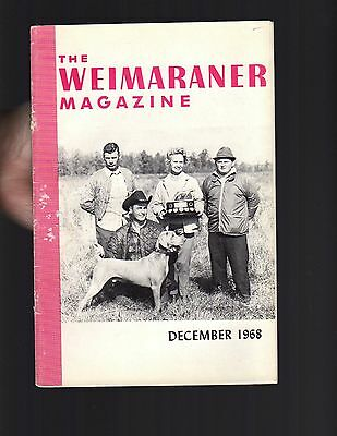 The Weimaraner Magazine, December 1968, Dog History